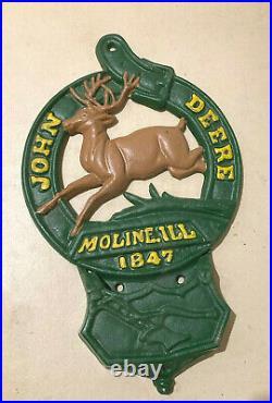 John Deere Vintage Cast Iron Pocket Plaque