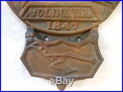 John Deere Vintage Cast Iron Pocket Plaque 1847