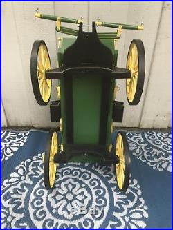 John Deere Wooden Wagon Handmade & Signed Wagon Master's Wagon Co. 1992