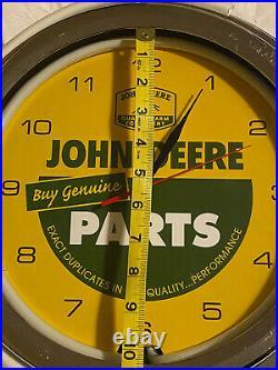 John Deere clock Light Up Sign Wall Clock