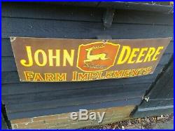 John Deere enamel sign Farm enamel sign sign porcelain sign farm implements sign