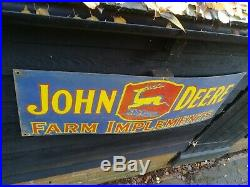 John Deere enamel sign Farm porcelain implements