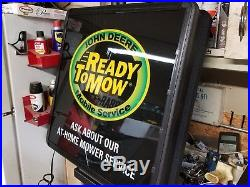John Deere lighted sign NOS rare advertising vintage