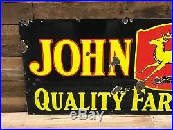 John Deere porcelain double sided sign