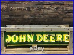 John Deere porcelain face Neon sign