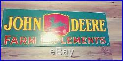 John Deere porcelain sign. Near mint