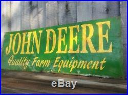 John Deere quality farm equipment Vintage Sign