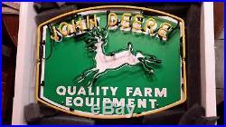 John Deere quality farm equipment neon bar sign mancave new in box FREE SHIPPING
