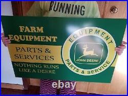 John Deere sign vintage style dealer display large