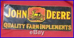 John deere implements tin sign
