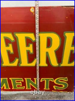 Johndeere Red Large 72x24 Inches Porcelain Enamel Sign Double Side