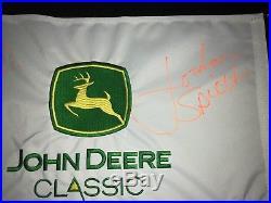 Jordan Spieth Signed John Deere Classic Pin Flag PSA JSA TEXAS LONGHORNS MASTERS