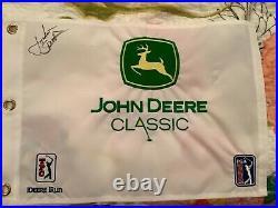 Jordan Spieth signed John Deere Classic flag 1st career PGA Win