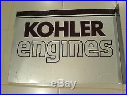 Kohler Engines Original Two Sided Flange Sign Cub Cadet, Wheelhorse, John Deere