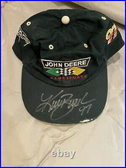 Kurt Busch John Deere Motorsports Ball Cap Signed