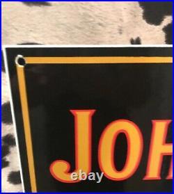 LARGE 2ft X 101/2in 50'S VINTAGE STYLE JOHN DEERER PORCELAIN SIGN