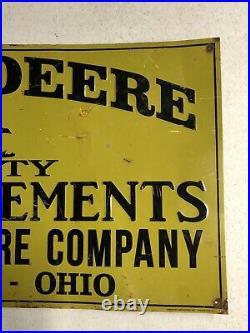 Large 23.5 John Deere Farm Implements Metal Gas Oil Sign