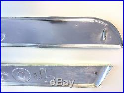 Lot of 2 Vintage JOHN DEERE Tractor Aluminum Plaque Sign 38 Left & Right 812001