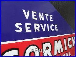 McCORMICK Tractor & Farm Equipment Porcelain Enamel Sign Plaque Emaillee #453