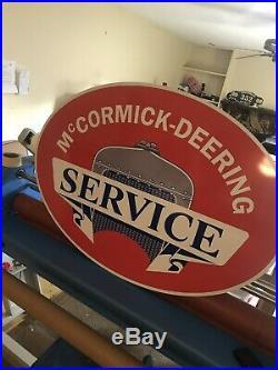 McCormick Deering Service Sign Large 48 Farm Tractor Vintage Look John Deere IH