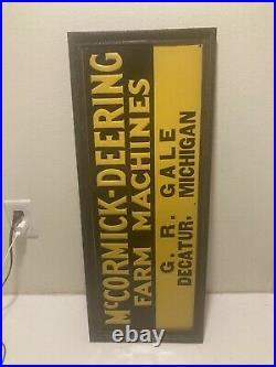 Mccormick deering sign 1930s original Nos Rare Dealer Sign 1930s Original