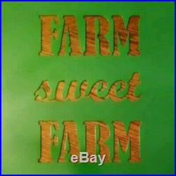 Metal Sign Farm Sweet Farm 17 5/8 x 17 5/8 Powder Coat Finish John Deere Green