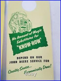 NOS JOHN DEERE Dealer Door Hanger Tag Sign 1960's Lot of 3 Advertising Original