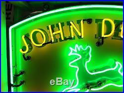 New John Deere Enamel Metal Neon Sign 48 W x 42H
