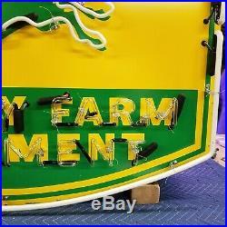 New John Deere Quality Farm Equipment Neon Sign 48W x 42H Lifetime Warranty