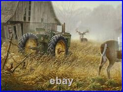 OLD RIVALS I &2 by LARRY ZACH MATTED & FRAMED JOHN DEERE FARMALL SEED CO