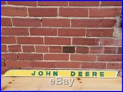 Old John Deere Tractor Metal trim badge emblem name plate sign combine