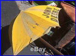 Old Original John Deere Tractor Collection Umbrella Advertising Sign Case Ford