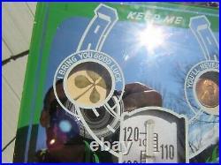 Original 1950 John Deere Farmers Implement Co. Thermometer Sign Washington, Iowa