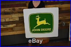 Original 1986 John Deere Farm Implements NOS Metal Sign Tractor Dealer REAL