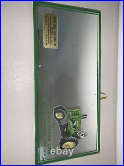 Original 40s John Deere Advertising Mirror Sign Tractor Sales Service Avon SD