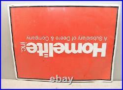 Original Homelite Deere metal sign from John Service New York collectible S1