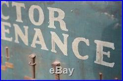 Original Tractor Maintenance Wood Hardware Sign John Deere Farm Tractors Antique