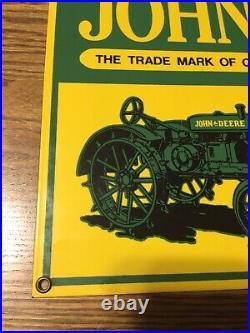 Original Vintage John Deere Sign