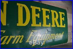 Original porcelain JOHN DEERE tractor sign