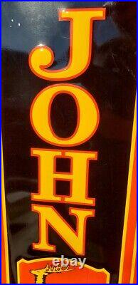 Other Vintage Antique John Deere Enamel Metal Vertical Sign 48 Inch X 12 Inch