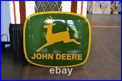 PLAQUE EMAILLEE JOHN DEERE tracteur enamel sign emaischild