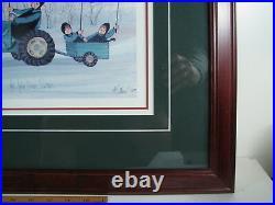 P Buckley Moss 1996 THE JOHN DEERE SISTERS Framed Print 468/1000