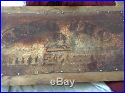 RARE EARLY 1900s JOHN DEERE COMBINE EMBOSSED SIGN COAT/HAT RACK