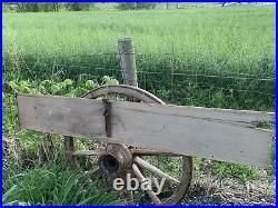 RARE Early 1900s 6ft John Deere Implement Wooden Tractor Sign Trailer End Grain