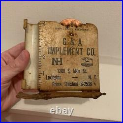 RARE John Deere Rain Gauge 1950-1955 Quality Farm Equipment Logo Lexington NC