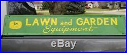 RARE early Vintage John Deere Metal sign Quality farm equipment Read description