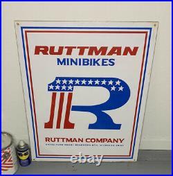 RUTTMAN MINIBIKES Metal Sign 24x36 Michigan Goodyear Oilzum John Deere Mini Bike