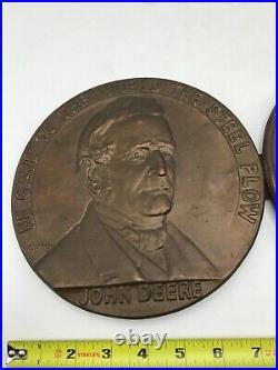 Rare 1837 1937 John Deere Hanging Wall Plaque Sign Centennial Dealer Award