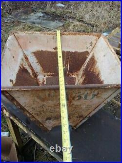 Rare 1920s Vintage John Deere lentz Farm Tractor Plow Gas Oil Garage sign 4 side