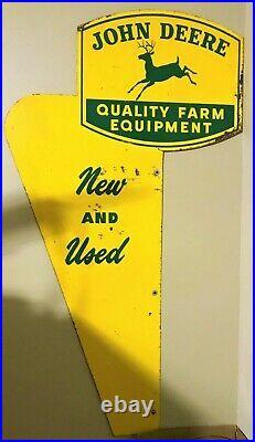 Rare 40's, 50's, 60's Vintage John Deere Dealership Road Entrance signs